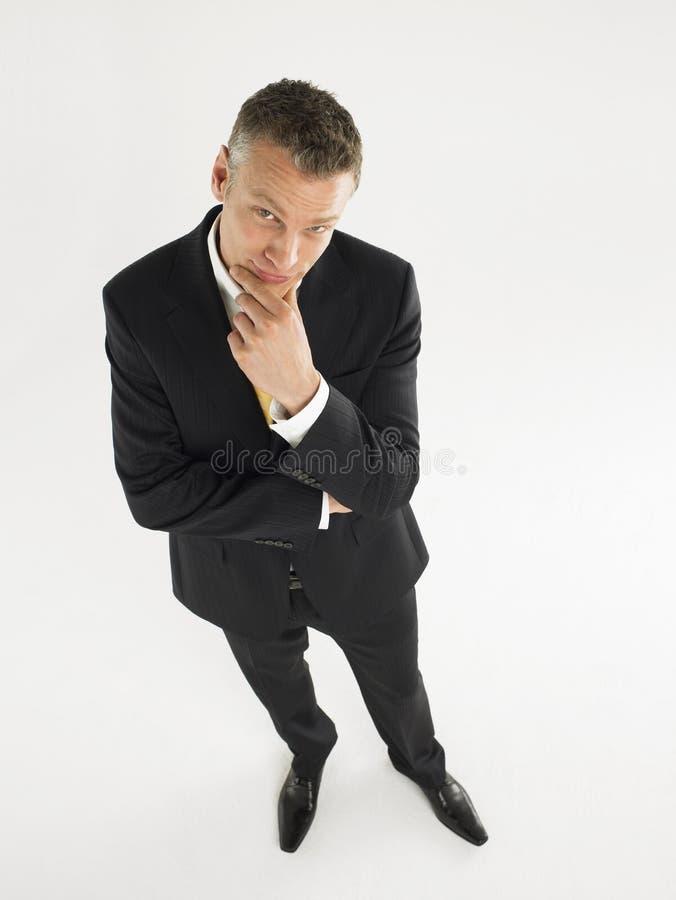 Hombre de negocios In Thoughtful Pose fotos de archivo libres de regalías