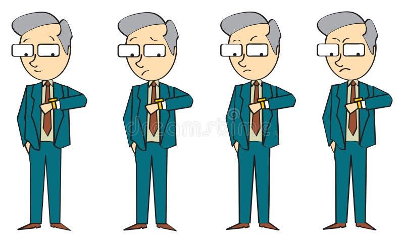 Hombre de negocios Time ilustración del vector
