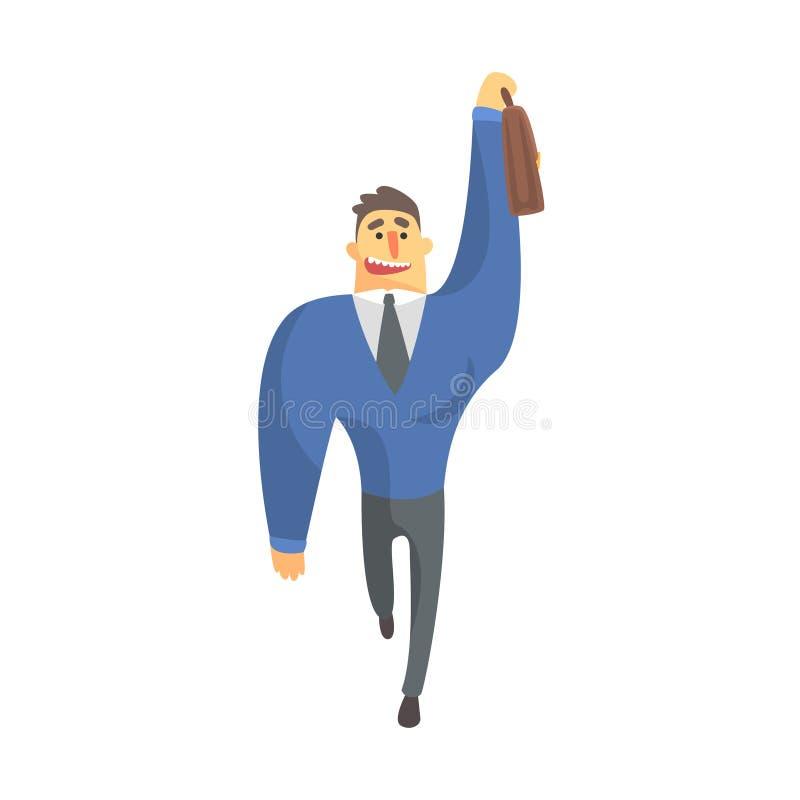 Hombre de negocios Top Manager In un taxi de cogida del traje, oficina Job Situation Illustration libre illustration