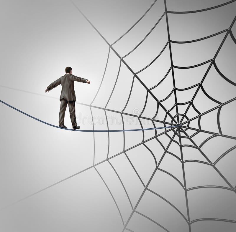 Hombre de negocios Trap ilustración del vector