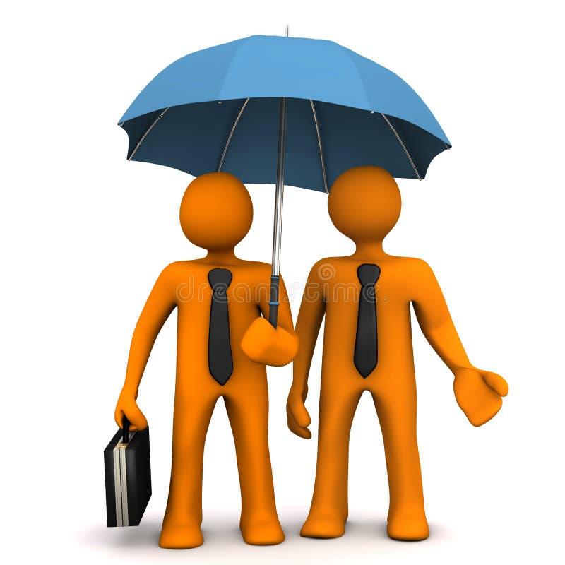 Hombre de negocios Umbrella Affiliate ilustración del vector