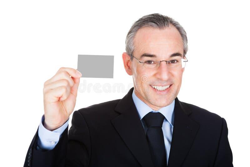 Hombre de negocios With Visiting Card fotografía de archivo libre de regalías
