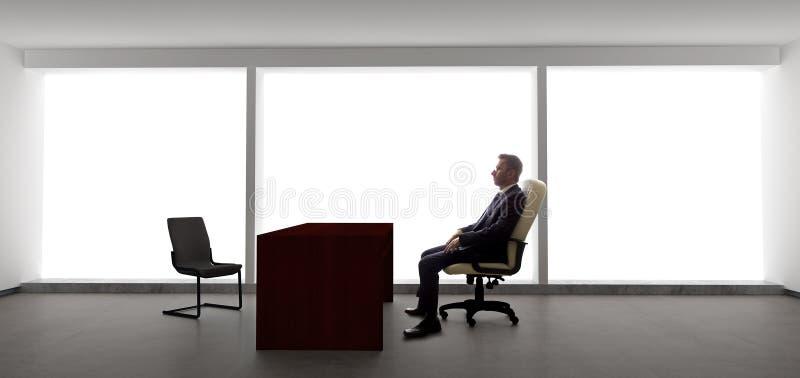 Hombre de negocios Waiting For Client o reunión imagen de archivo