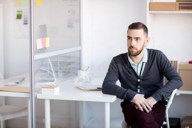 Hombre de negocios Waiting en oficina imagen de archivo libre de regalías