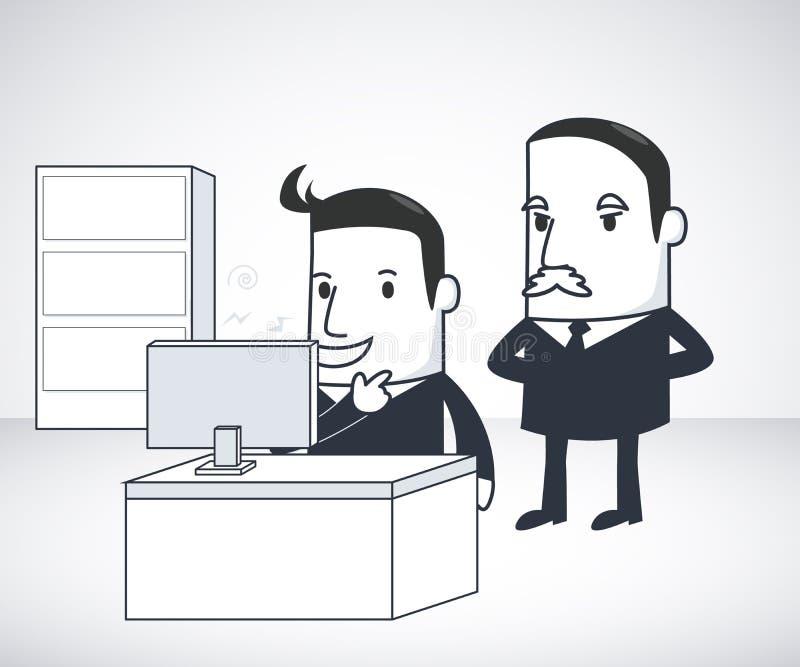 Hombre de negocios y Boss libre illustration