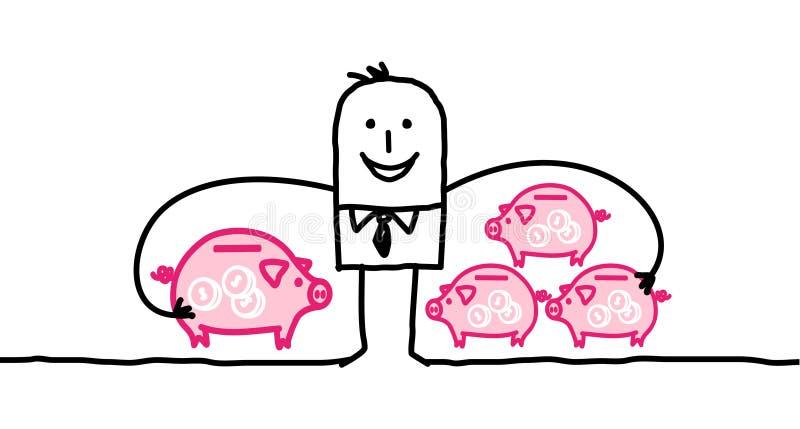 Hombre de negocios y capitalismo ilustración del vector
