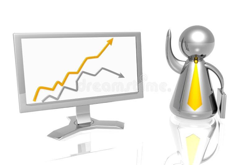 Hombre de negocios y diagrama del éxito libre illustration