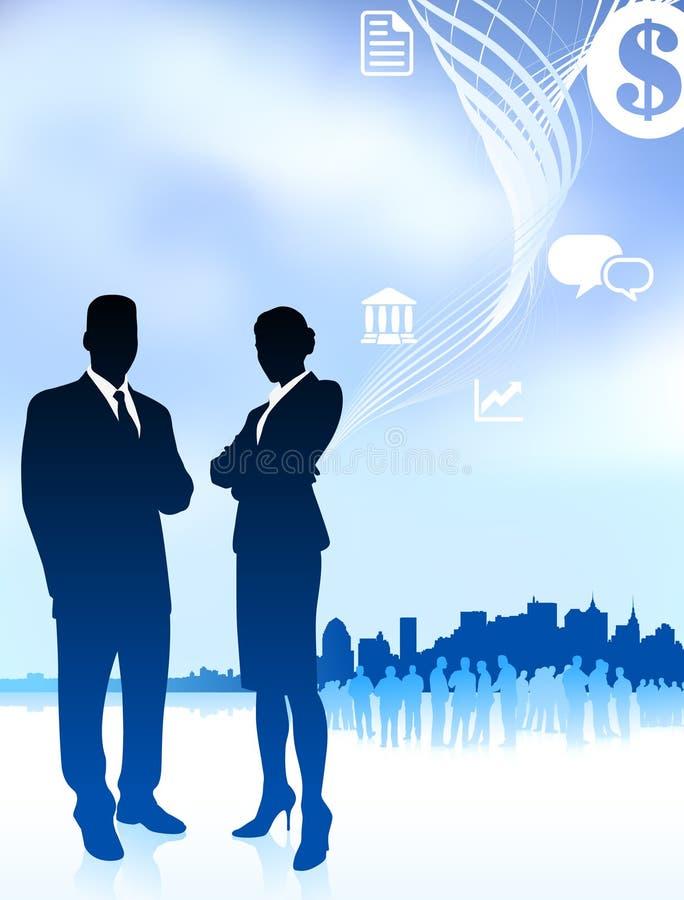 Hombre de negocios y empresaria ilustración del vector