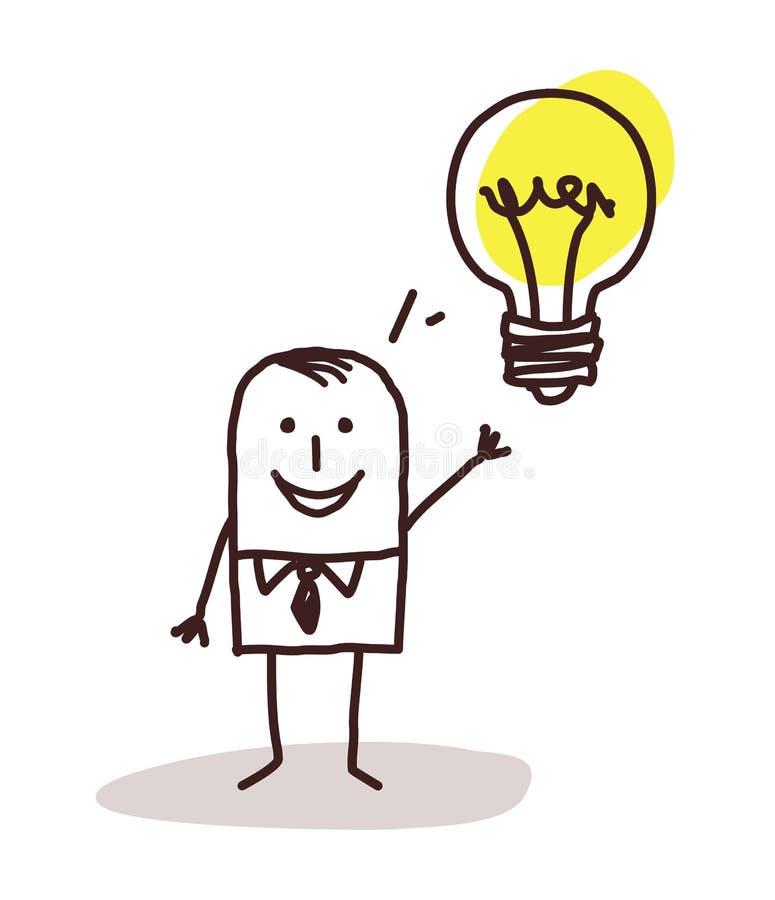 Hombre de negocios y idea ilustración del vector