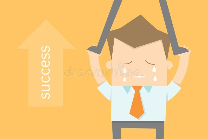 Hombre de negocios y oportunidades de la carrera stock de ilustración