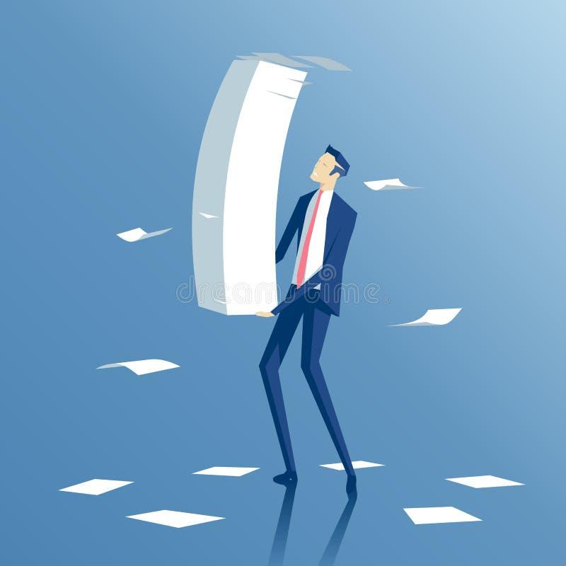 Hombre de negocios y papeleo libre illustration