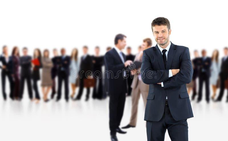Hombre de negocios y sus personas imagenes de archivo