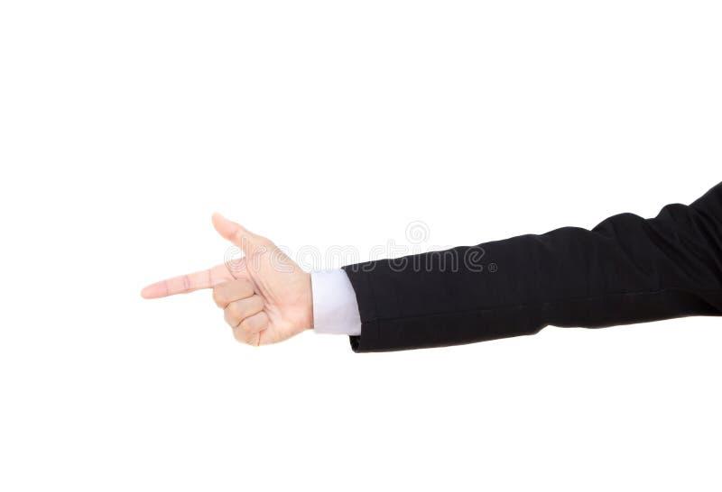 Hombre de negocios y tema del gesto fotografía de archivo