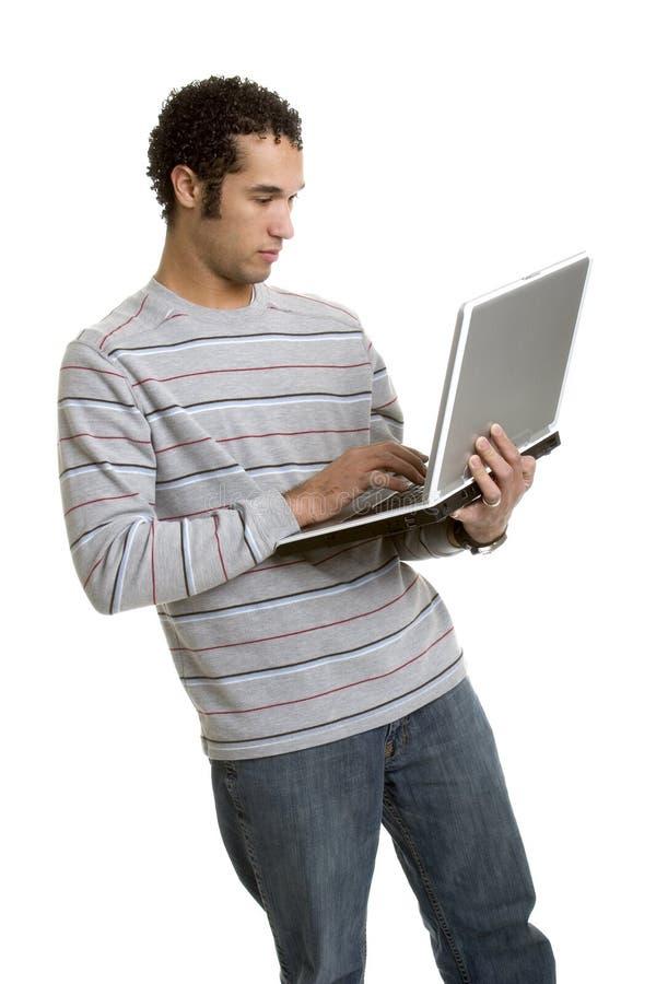 Hombre de ordenador foto de archivo