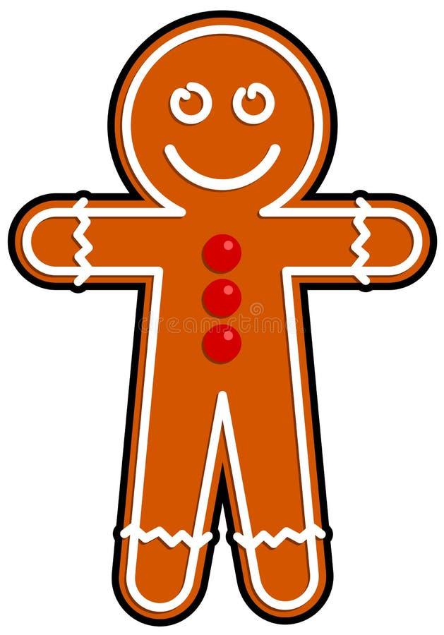 Hombre de pan de jengibre ilustración del vector