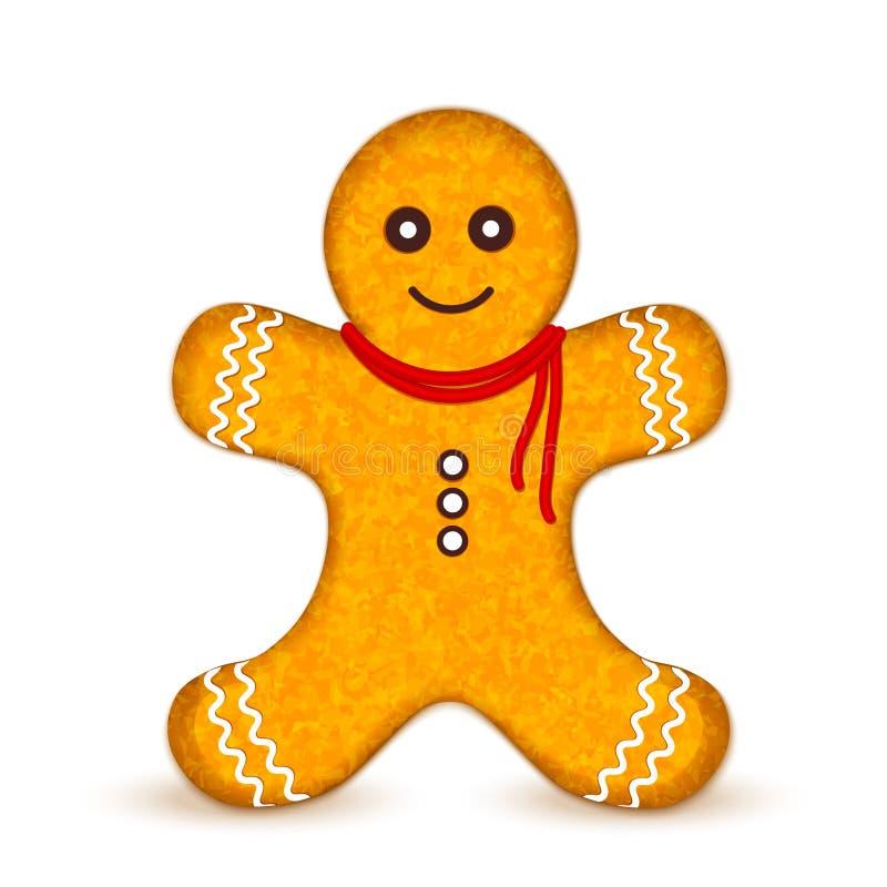 Hombre de pan de jengibre stock de ilustración