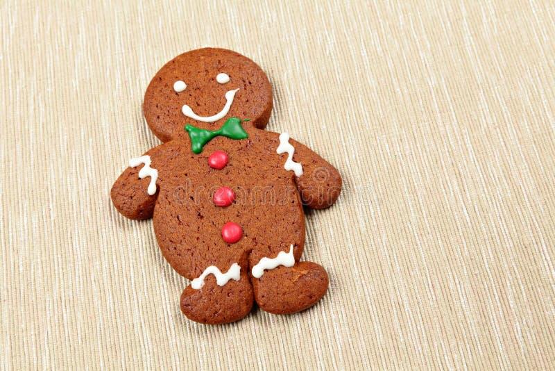 Hombre de pan de jengibre para la Navidad foto de archivo libre de regalías