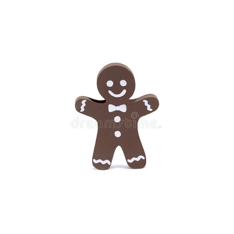 hombre de pan de jengibre del papel 3d aislado en blanco fotografía de archivo libre de regalías