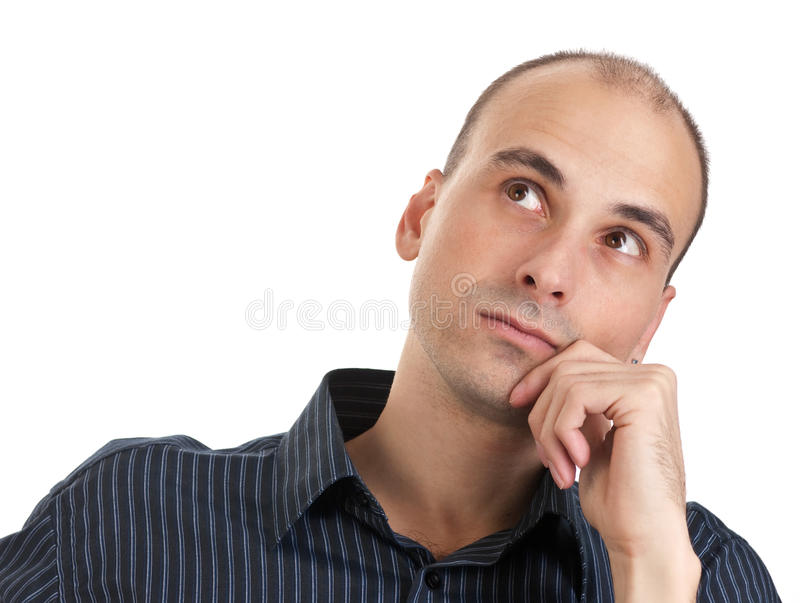 Hombre de pensamiento foto de archivo