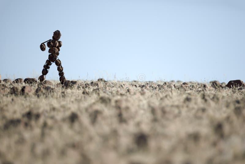 Hombre de piedra solitario de Kaokoland fotografía de archivo libre de regalías