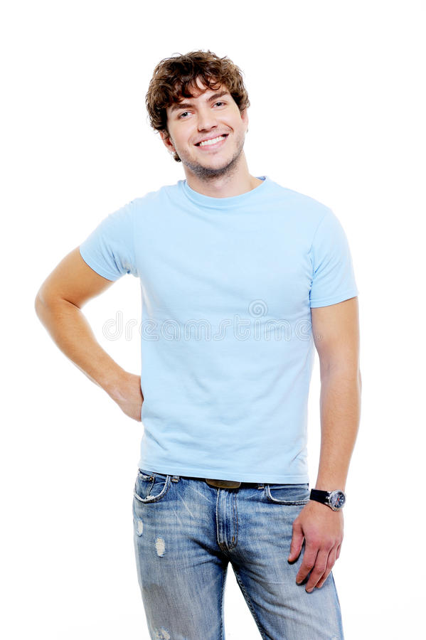 Hombre de risa con el pelo rizado imagen de archivo libre de regalías