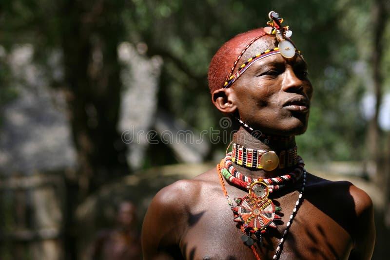 Hombre de Samburu, Samburu Kenia foto de archivo libre de regalías