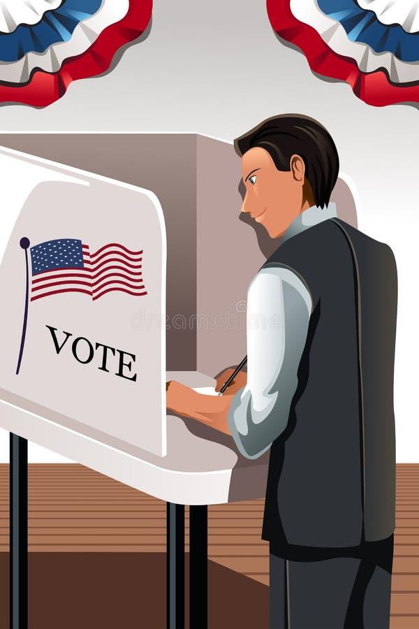 Hombre de votación stock de ilustración