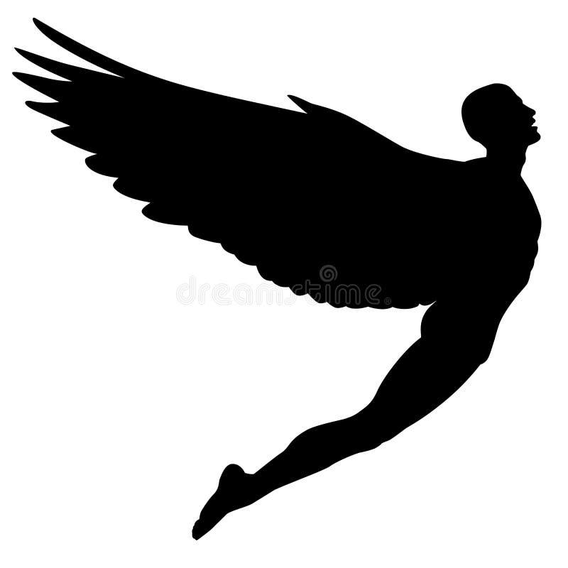 Hombre de vuelo ilustración del vector