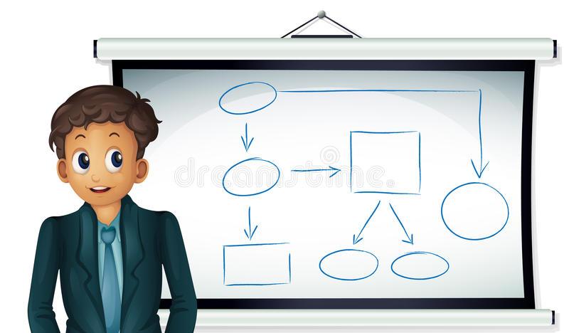 Hombre de Whiteboard libre illustration