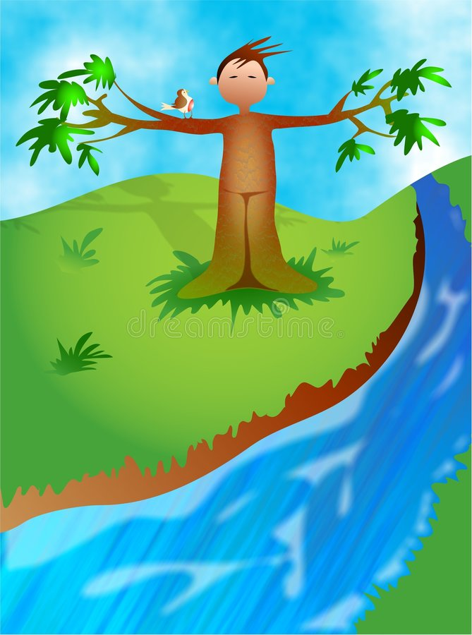 Hombre del árbol libre illustration