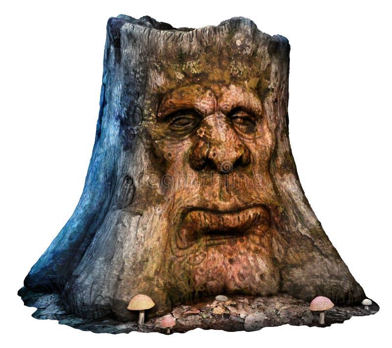 Hombre del árbol de la fantasía ilustración del vector