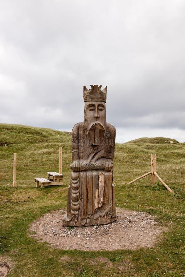 Hombre del ajedrez, el rey, isla de Lewis imagenes de archivo