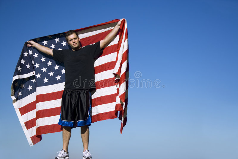 Hombre del All-American foto de archivo