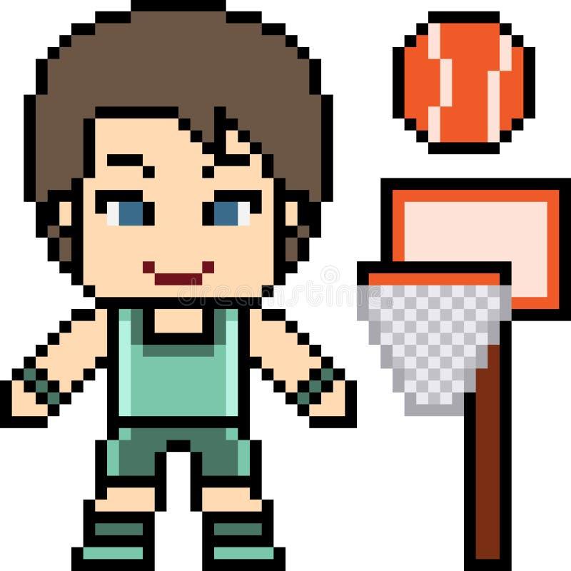 Hombre del baloncesto del arte del pixel del vector ilustración del vector