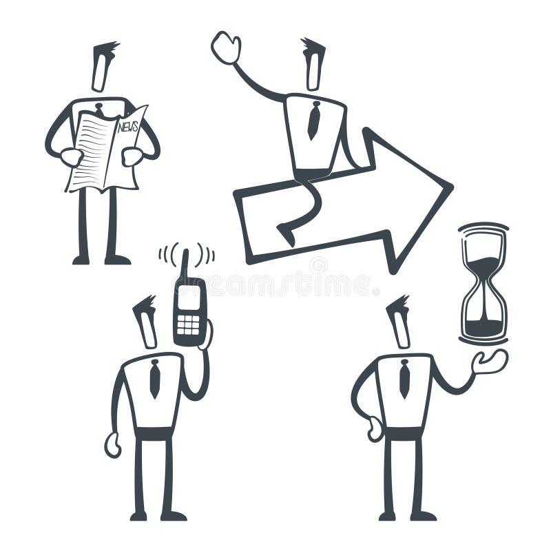 Hombre del bosquejo ilustración del vector
