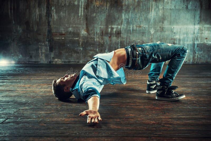 Hombre del break dance imágenes de archivo libres de regalías