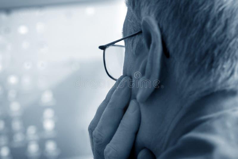 Hombre del concentrado imagenes de archivo