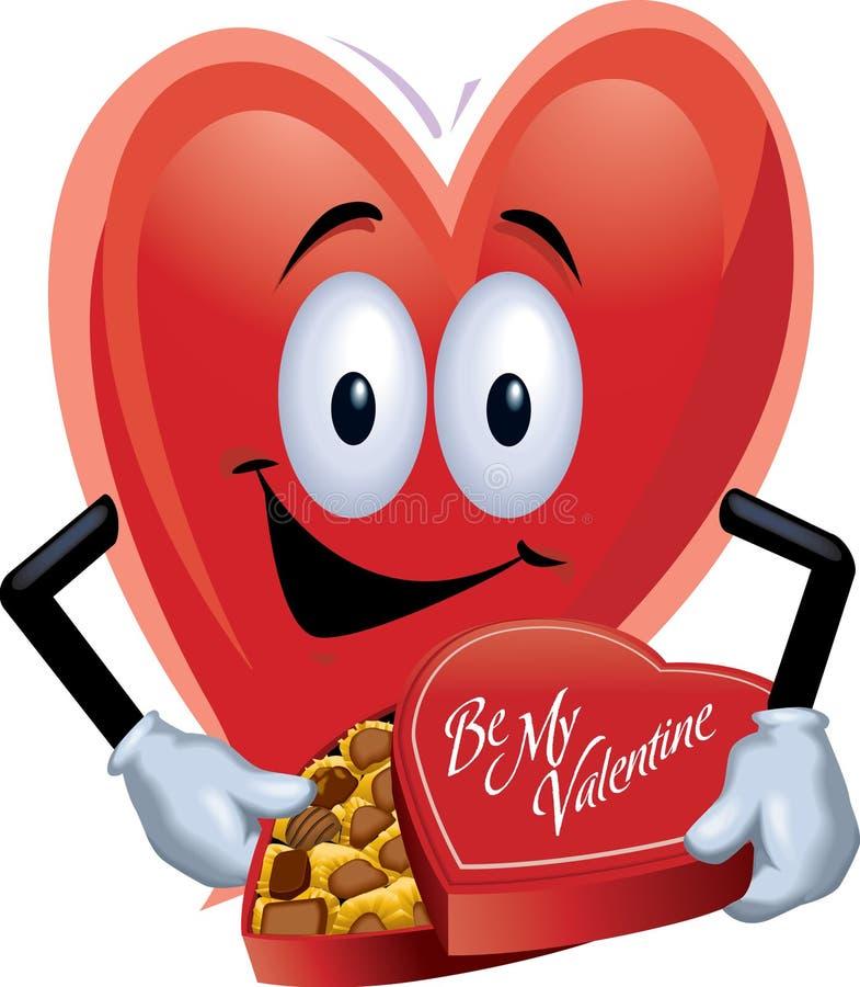Hombre del corazón con el rectángulo de chocolates imagenes de archivo
