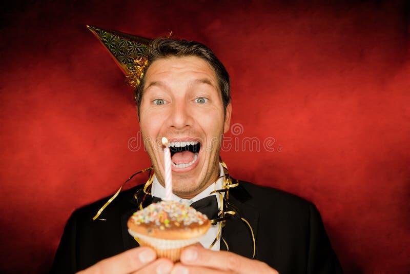 Hombre del cumpleaños imagen de archivo