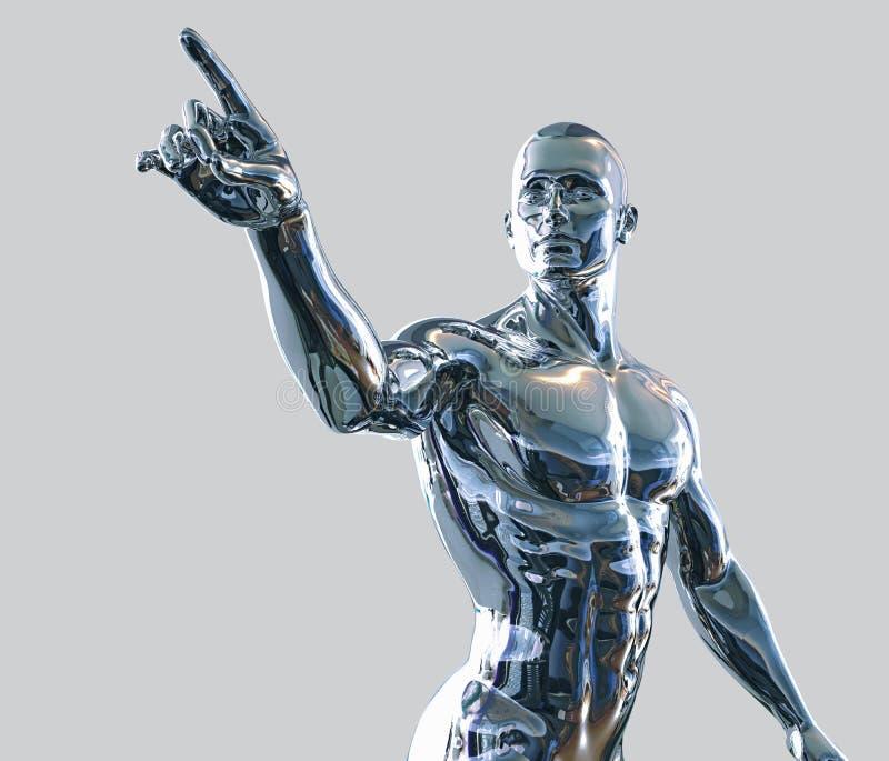Hombre del Cyborg ilustración del vector