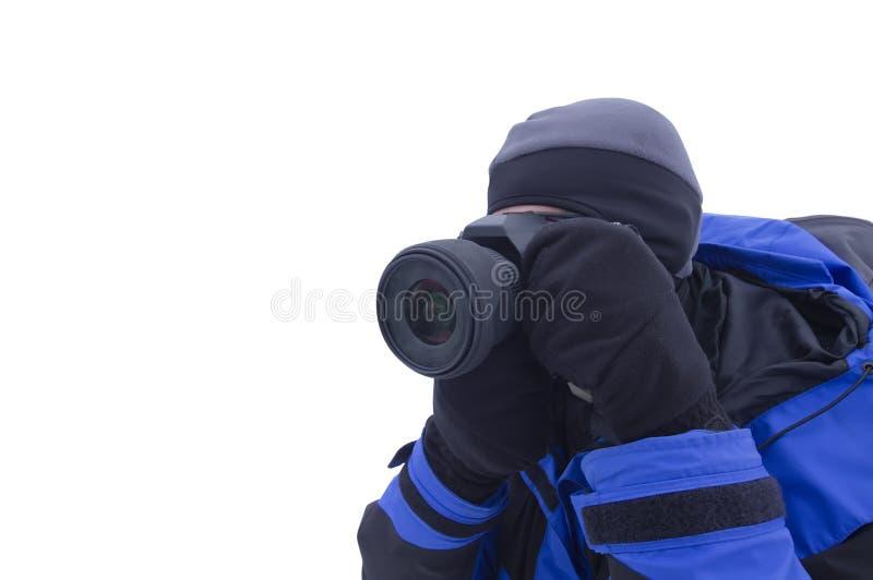 Hombre del espía que toma las fotos fotos de archivo