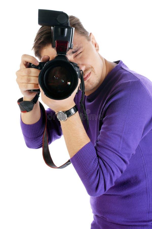 Hombre del fotógrafo fotos de archivo