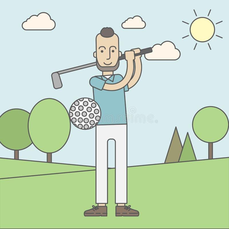 Hombre del jugador de golf libre illustration