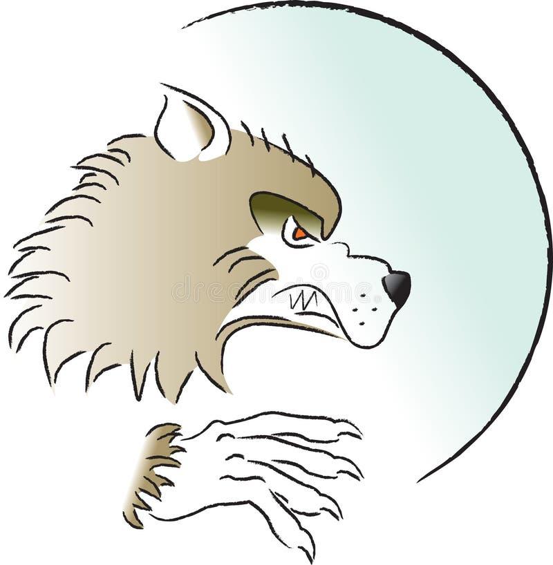 Hombre del lobo ilustración del vector