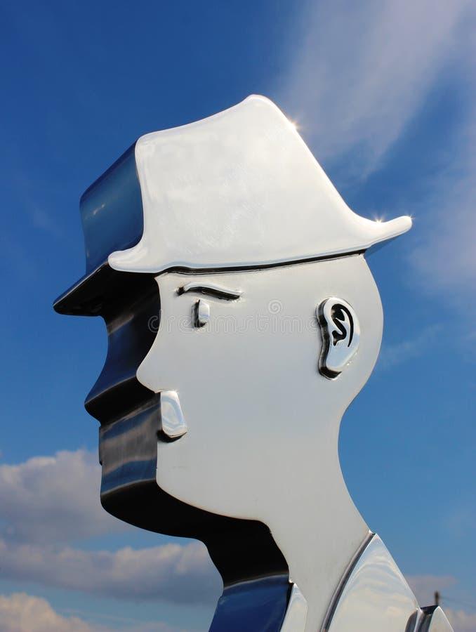 Hombre del Matchstick, L estatua de S Lowry, extremo de Knott foto de archivo libre de regalías