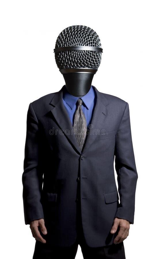 Hombre del micrófono imagen de archivo