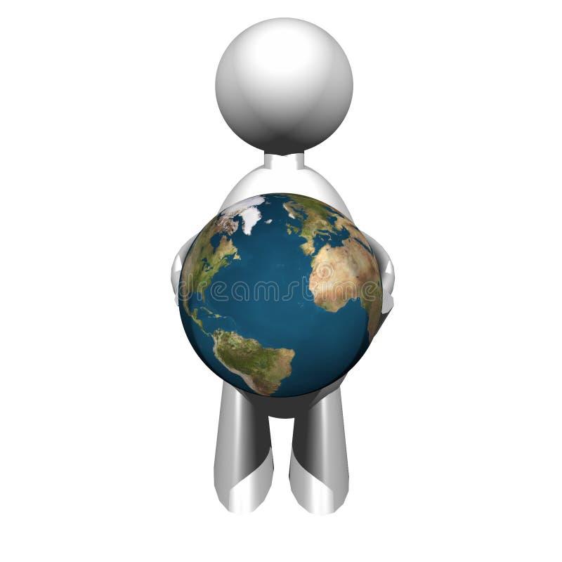 Hombre del mundo imagen de archivo libre de regalías
