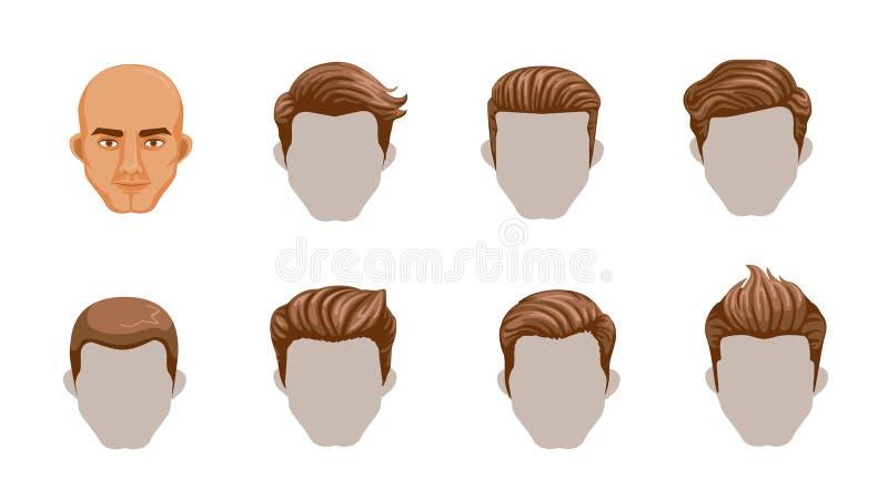 Hombre del pelo stock de ilustración