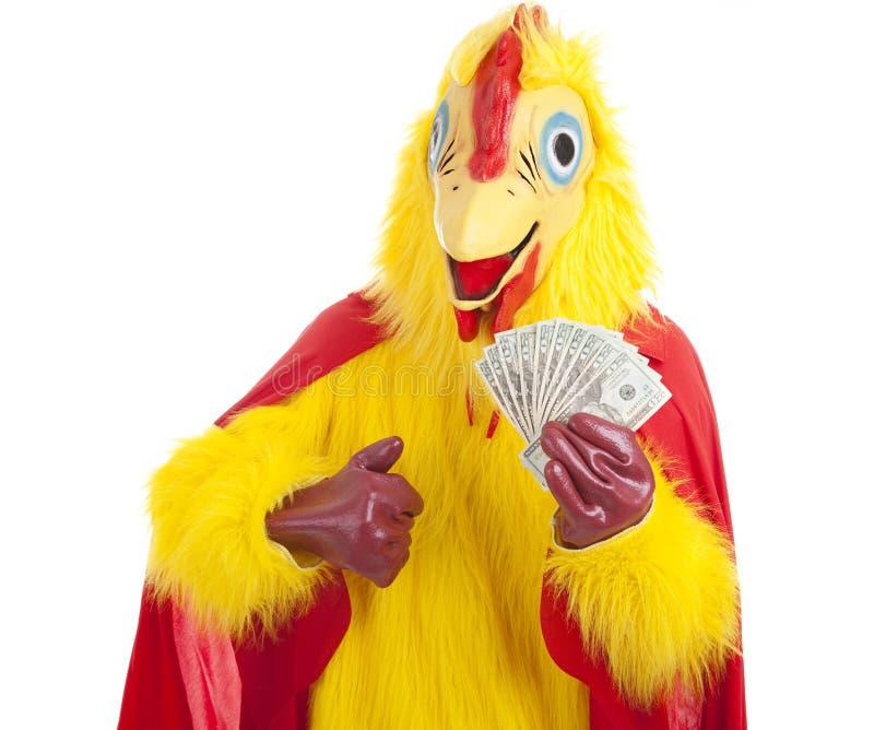 Hombre del pollo - ricos imagen de archivo