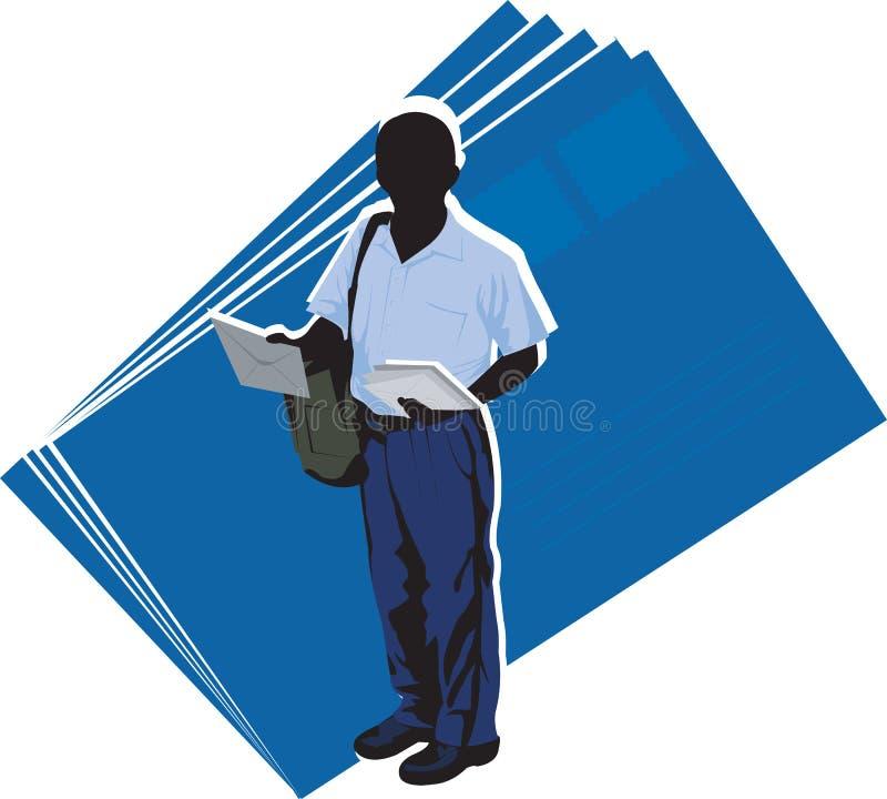 hombre del poste ilustración del vector